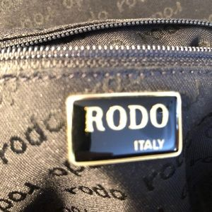Rodo Bags - RODO ITALY BLACK LEATHER SHOULDER BAG PURSE